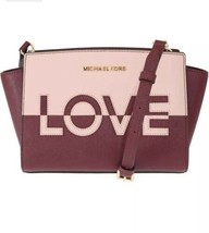 NWT MICHAEL KORS Selma Love Saffiano Leather Messenger Bag - $125.77