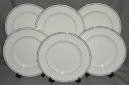 1986 Royal Doulton Set (6) SIMPLICITY PATTERN Dinner Plates MADE IN ENGLAND - $227.69