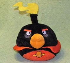 "ANGRY BIRDS STUFFED SPACE BOMB Animal Toy Plush COMMONWEALTH 9"" 2012 Bla... - $11.30"