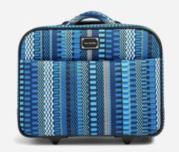 Vera Bradley On a Roll Rolling Laptop Work Travel Bag Cha Cha Blue Wheels - $220 - $138.55