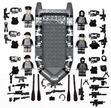 51 PCS Set 6 Elite Swat Force Minifigures With Elite Swat Boat For Lego ... - $17.50