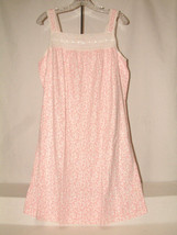 #3051 SLEEVELESS NIGHT GOWN FROM CORAL BAY, SIZE MEDIUM, EYELET TRIM, NEW - $16.82