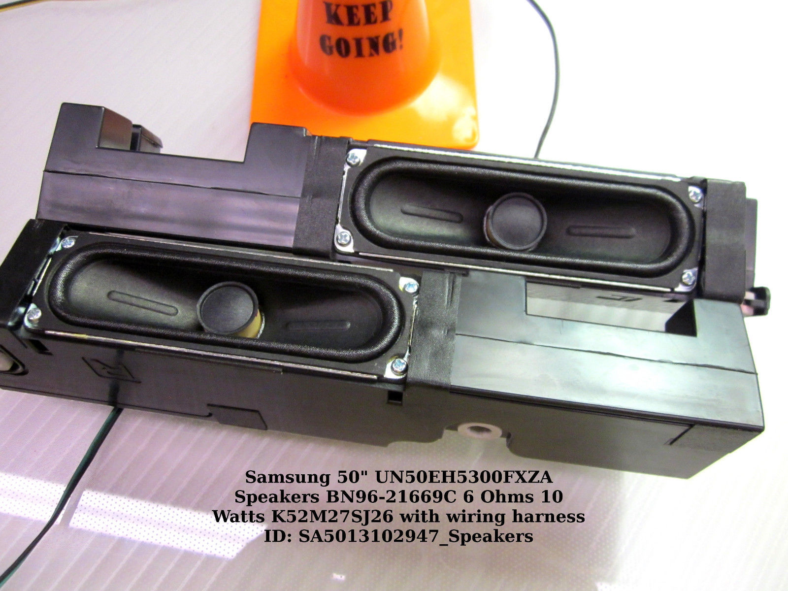 "Primary image for Samsung 50"" UN50EH5300FXZA Speakers BN96-21669C 6 Ohms 10 Watts K52M27SJ26"