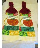 Brand New Crochet Top Kitchen Towels Tomatoes Red Top - $9.99