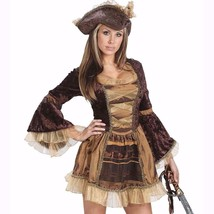 Sassy Victorian Pirate Lady Adult Halloween Costume Size Med Lg 10-14 NEW - $28.66