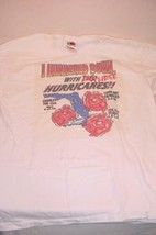 "2004 ""I HUNKERED SOWN WITH THREE HURRICANES"" SURVIVAL T SHIRT SIZE MEDIUM - $25.73"