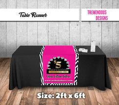 Custom  Table runner Zebra Pattern  2'x6' Predesigned For Paparazzi Consultants image 1