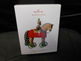 "Hallmark Keepsake ""A Pony For Christmas"" 2018 Part Fabric Ornament NEW - $8.86"