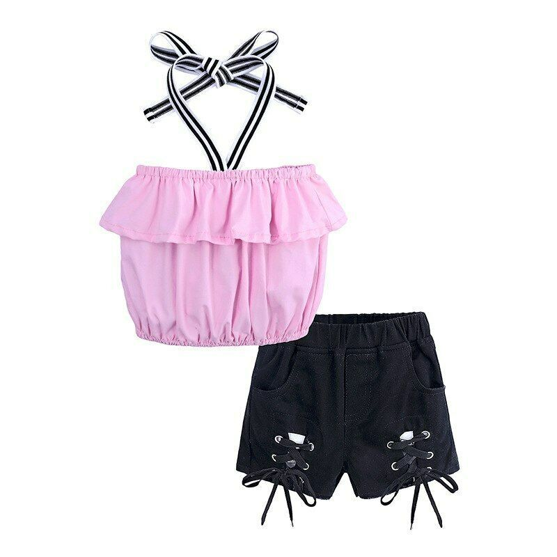 Children Clothing 2019 Summer Toddler Girls Clothes 2pcs Outfit Kids Clothes