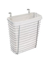 Steel Cabinet Mount Holder Organizer Trash Waste Basket Kitchen NEW - $28.75
