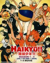 Anime DVD Haikyuu!! Season 1-4 Vol.1-85 End + 4 Movie + 2 OVA English Su... - $49.90