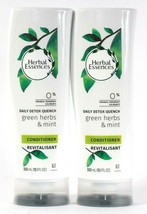 2 Bottles Herbal Essences 10.1 Oz Daily Detox Quench Green Herb Mint Conditioner - $16.99