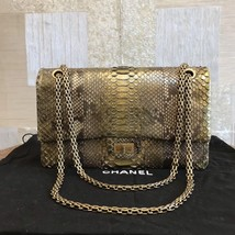 100% AUTHENTIC Chanel 2.55 Reissue PYTHON 226 Double Flap Bag