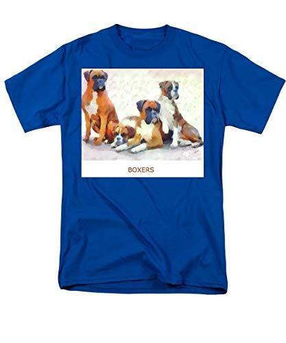 Primary image for Boxer Quartet - Men's T-Shirt (Regular Fit) - Royal/Small
