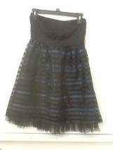 Petro Zillia Forever 21 Size S Strapless Blue & Black Semi Formal Dress ... - $13.95