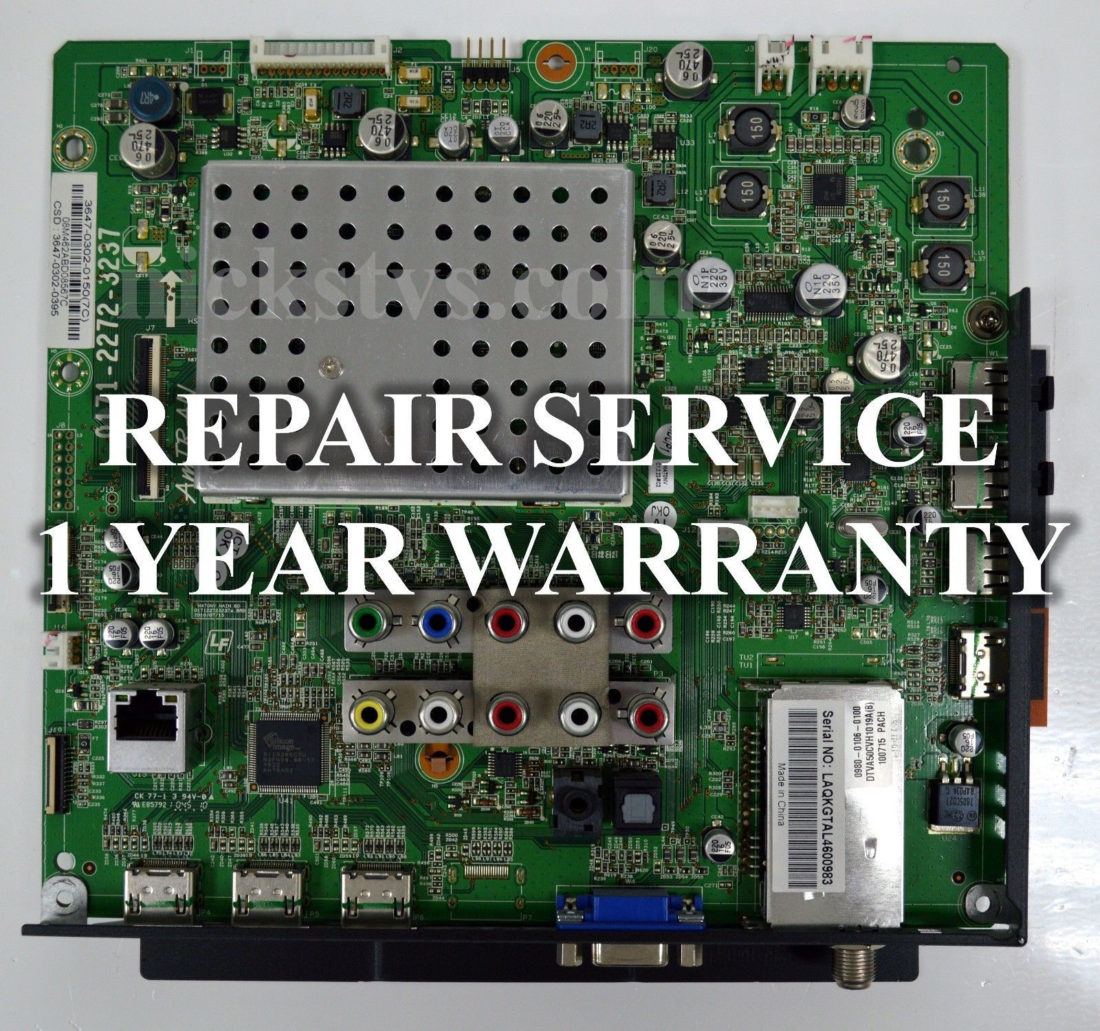 Primary image for Premium Mail-in Repair Service For Vizio XVT3D554SV Main Board 1 YEAR WARRANTY