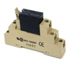 Omron G3R-ODX02SN Solid State Relay W/ 1695C Relay Base, 10A 250V - $21.00
