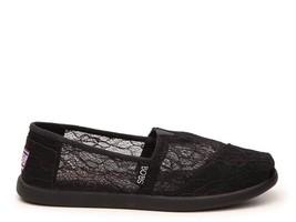 Ladies Shoes Size 8 M Skechers BOBS Memory Foam Black Lace $78 Value NIB - £48.09 GBP