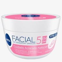 2 X nivea crema facial ACLARADORA natural Brightening FPS 15 200g - $22.95