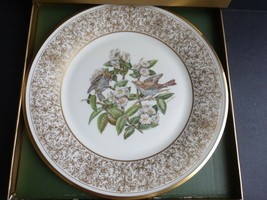 LENOX BOEHM BIRDS The Wood Thrush Porcelain Plate 24-karat Gold - $19.79