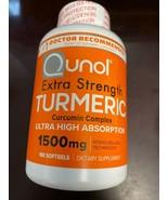 QUNOL EXTRA STRENGTH TURMERIC 1500MG 180 SOFTGELS NEW 06/2023 - $29.69