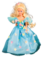 Mattel Inc 1976 Vintage Barbie Doll Blue Dress Blonde Hair - $24.75