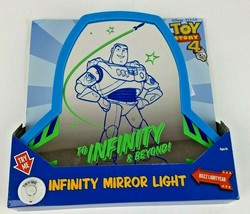 Buzz Lightyear Toy Story 4 To Infinity And Beyond Infinity Mirror LED Li... - $14.99