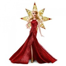 NEW HOLIDAY MATTEL 2017 BARBIE DOLL RED BLONDE NIB COLLECTIBLE RARE COLL... - $41.80