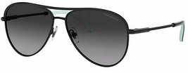 Tiffany & Co. TF3062 60073C Black Metal Frame Gradient Sunglasses 57mm - $241.53