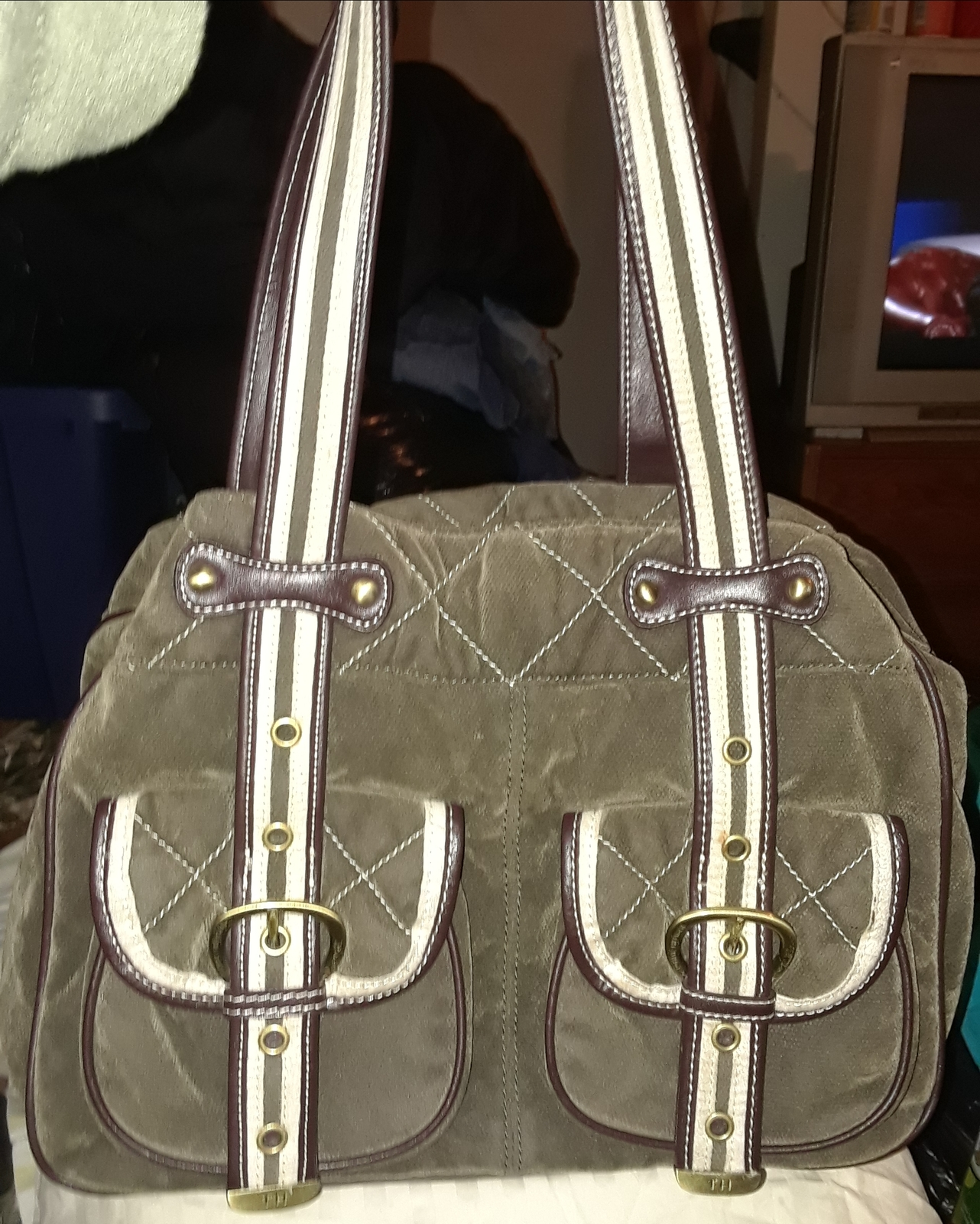 Tommy Hilfiger Velvet Shoulder Bag tote and 50 similar items e233f3ace13d4