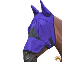 Horse FlyMeshMask SpringSummerAirflowUv MosquitoesEquine Blue U-06-H - $18.49