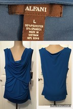 NEW! Alfani Ladies Top Size Large Sleeveless Blue Retail $49.99 New With... - $14.84