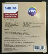 Philips 30ct Christmas LED Dewdrop Lights Battery Operated Warm White Twinkle image 2