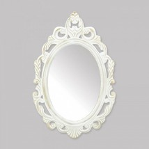 Antiqued White Wall Mirror - $35.99