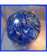 "Hanging Glass Ball 8"" Diameter ""Blue Tree"" Witch Ball (1) #115 - $31.19"