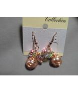Czech Glass Wire Wrap Drop French Hook earrings - $19.99