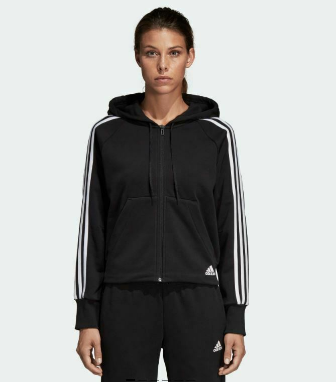 ADIDAS WOMEN'S MUST HAVES 3 STRIPES FULL ZIP HOODIE US SIZE M STYLE#DW9695