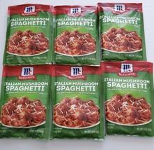 McCormick Italian Mushroom Spaghetti Sauce Mix~6 Packets~1.5 oz.~BB 8/21 - $27.96
