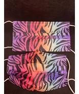 10 pieces Rainbow zebra disposable face mask - $11.00