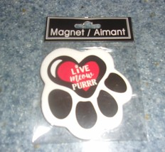 Brand New Ceramic Cat Paw Design Live Meow Purr Magnet For Dog Rescue Ch... - $7.39