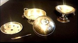 US Silver-Plated Butter Dishes AB 424 Antique image 4