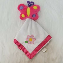 Dan Dee Butterfly  Flower Girl Lovey & Security Blanket Pink White B84 - $9.97