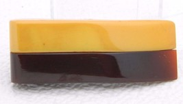 VTG Abstract Butterscotch Yellow Brown Bakelite Tested Scarf Fur Dress Clip Pin - $173.25