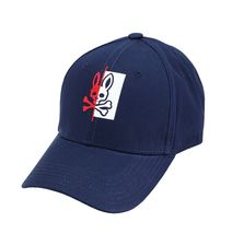 Psycho Bunny Men's Cotton Embroidered Logo Dovedale Baseball Cap Strapback Hat image 6