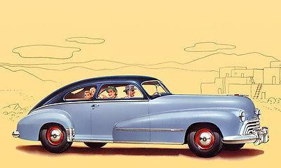 Primary image for 1948 Oldsmobile Dynamic Series 60 Club Sedan - Promotional Advertising Poster