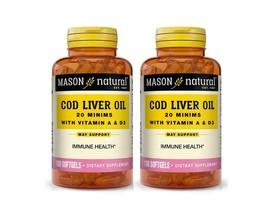 2 X 100 = 200 SOFTGELS Norwegian COD LIVER OIL 1000 mg W/ VITAMINS A & D... - $17.81