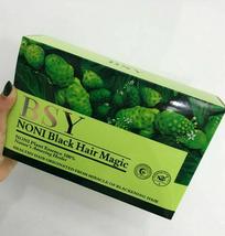 1 Boxes BSY Noni Black Hair Magic Color Dye 100% Natural Herbal Essence Shampoo  - $39.90