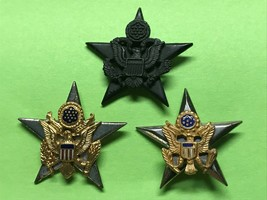 Wwii, General Staff Corps, Insignia Group, 3 Variations, Sterling, Krew, Gemsco - $9.70