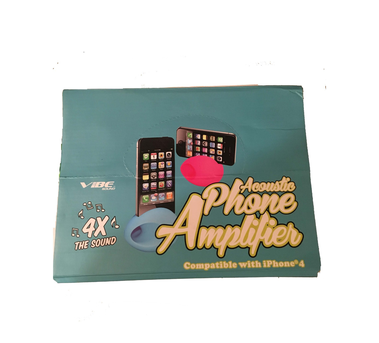 Cell phone voice amplifier  display box
