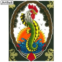 5D Diamond Painting Rooster Sea Horse Kit - $14.99+